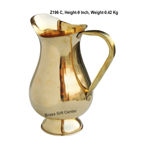 Brass Jug Mughal Design 1.5 Litre - 7.559 Inch  Z196 C