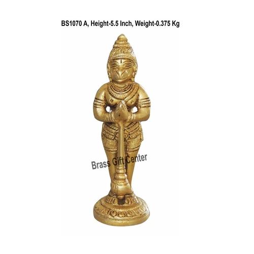 Brass Hanuman Statue Murti idol 0.38 kg - 1.51.55.5 inch  BS1070 A