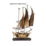 Brass Ship In Antique Lacquer finish - 49 Inch MR172 E