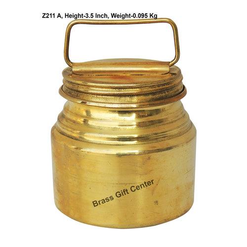 Brass Ganga JAL Pitcher Gangajali 200 ml - 2.72.73.5 Inch  Z211 A