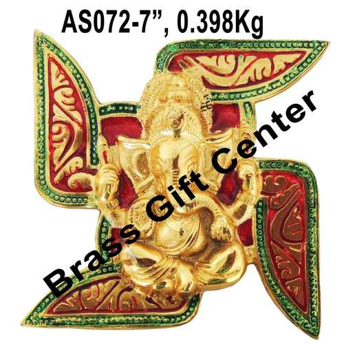 Ganeshji On Satayia Wall hanging Showpiece -7 inch