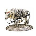 Gaye Bachdha Cow With Calf Statue - 5 Inch AS217 S