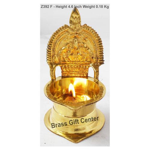 Brass Kamakshi Velakku Deepak - 334.6 Inch  Z392 F