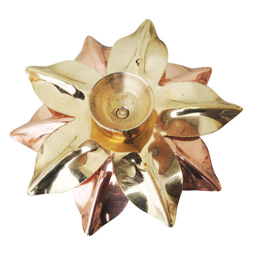 Pure Brass And Copper Diya Deepak - 3 inch Z124 A