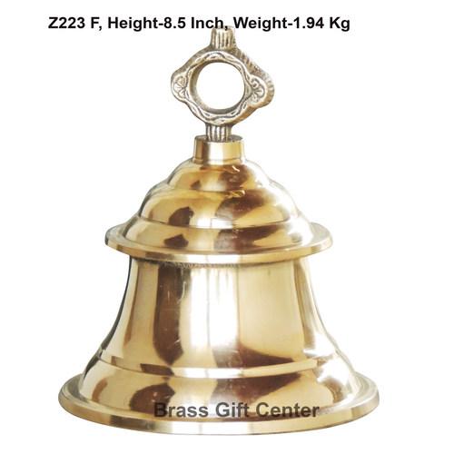 Brass Ganta Bell Temple Bell - 6.56.58.5 Inch  Z223 F