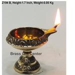 Brass Kuber Deepak Diya With Stand No. 0 - 2.1*1.7*1.7 Inch  (Z194 B)