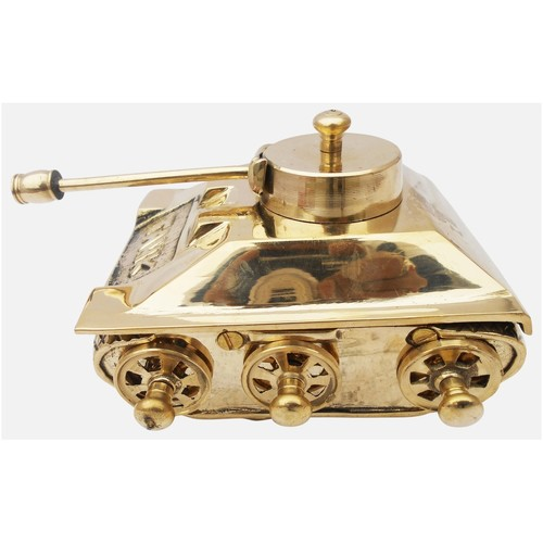 Brass Tank Toy Miniature For Children Playing- 75.54 Inch  Z329 D