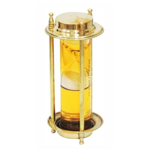 Brass Showpiece Sand Timer - 7 inch MR214 B