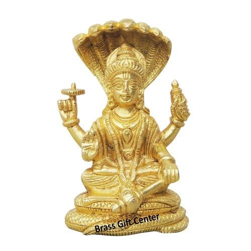 Brass Vishnuji Statue Idol Murti - 3.32.85 inch BS992 C