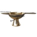 Brass Laxmi  Deepak Diya LD No. 5 - 6.4 Inch  (F626 F)