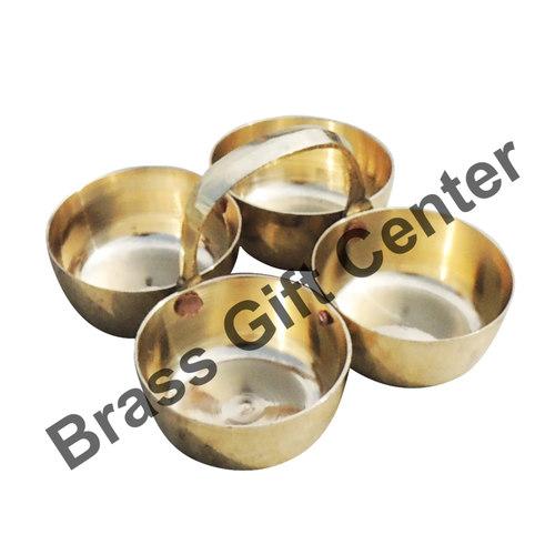 Brass Chokta Small 4 Bowl Combined - 3.13.11.8 Inch  Z142 B