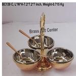 Copper steel brass pickel achar holder bowl with spoon - 7.27.27 inch  BC139 C