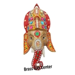Wall hanging Ganesh face - 14 inch AS251 C