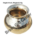 Brass Matki Lota Polish finish - 4.5*3.6*4 Inch  (Z153 C)