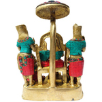 Brass Ram Darbar with Turquoise Coral Stone Work 11.6 kg - 10514 inch BS330