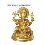 Brass Ganeshji StatueMurtiidol - 5.5 inch BS1040 G