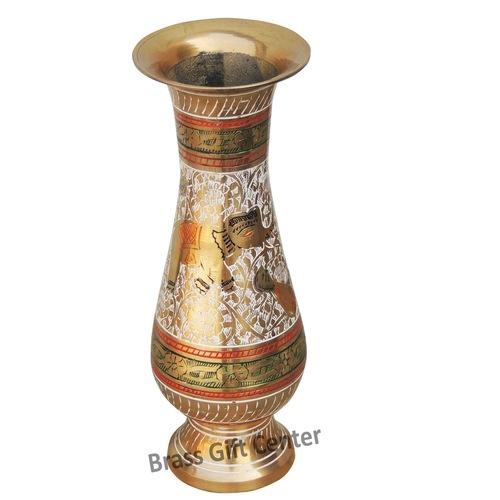Brass Flower vase pot - 8.8 inch  F191
