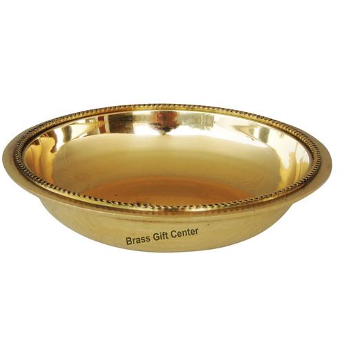 Pure Brass Halwa Bowl - 4.2*4.2*0.8 Inch  (BC116 B)