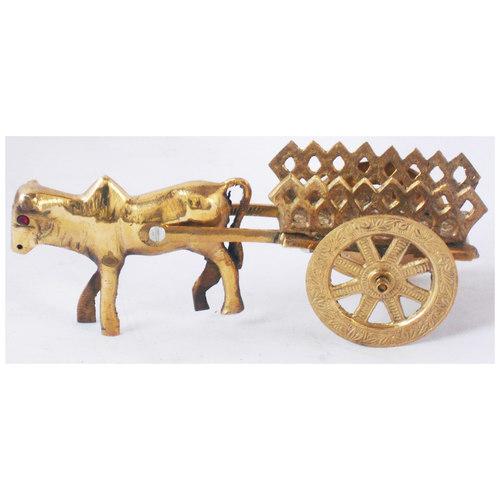 Brass Bull Cart Bell Gadi - 8.5*8.5*3.5 Inch (Z356 C)