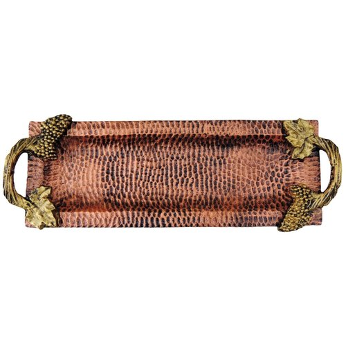 Aluminium Metal Tray Serving Platter Hammered Copper finish- 176 Inch  A161117