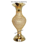 Brass Beads Flower Vase - 12.5 Inch  (F651 C)