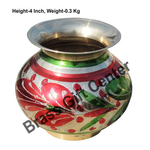 Brass Matki Lota Coloured No. 6 -  4.3*4.3*4 Inch  (Z152 C)