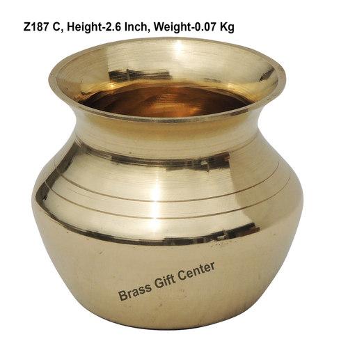 Brass Lota No. 2 , 150 ml - 2.6*2.6*2.6 Inch  (Z187 C)