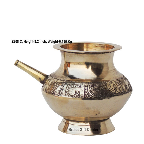 Brass Karwa Lota. No. 8 350 ml - 4.63.63.2 Inch  Z208 C