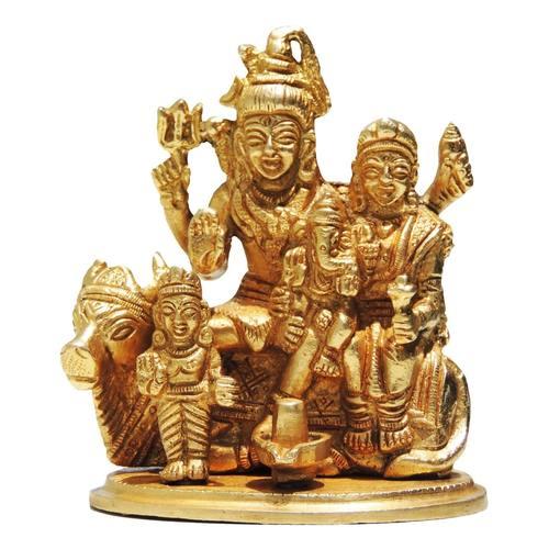 Brass Showpiece Shiv Parivar - 4 Inch (BS381)