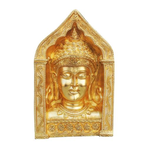 Brass Showpiece Buddha Face 9.3 Inch BS025