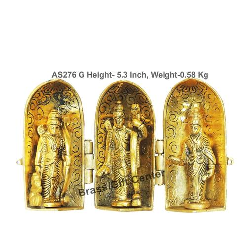 Ram Dharbar Folding In Gold Antique Finish - 8.51.55.3 Inch  AS276 G