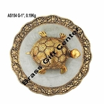 Tortoise Kachu Plate in gold Antique finish- 5.6 Inch (AS154 G)
