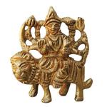Brass Durga Ji StatueMurtiIdol With Natural Brass Finish - 2 Inch BS746 A