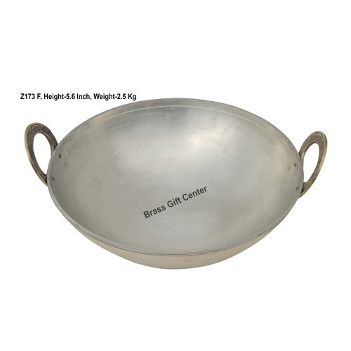 Brass Kadai With Kalai Work 3.5 liter - 1212 Inch  Z173 F