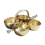 Brass Chokta Small 4 Bowl Combined -2.9*2.9*1.9 Inch  (Z142 A)