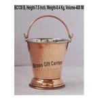 Copper Steel Small Bucket Shape Bowl 400 ml - 4.5x4.5x7.5 Inch  BC138 B