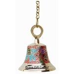 Brass Temple Bell With Handicraft Colour 4.84.86 Inch  F515 A