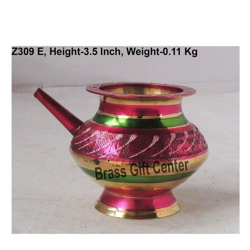 Brass Karwa Lota Colour No. 8 220ml - 4.743.5 inch  Z309 E