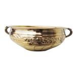 Brass Urli with Handwork Diameter 10 inch (F574 C)