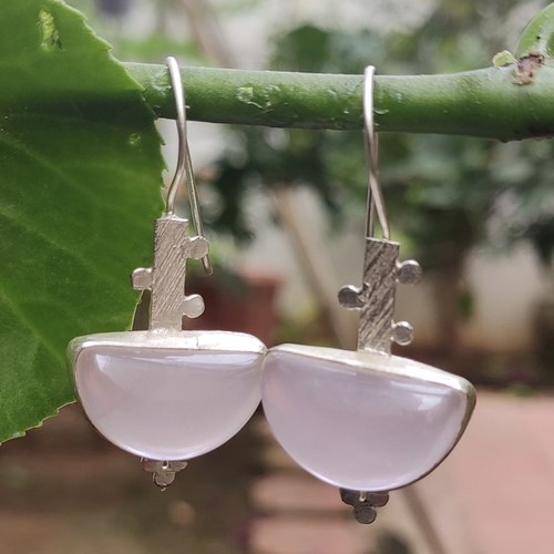 Pink Chalcydony Earrings