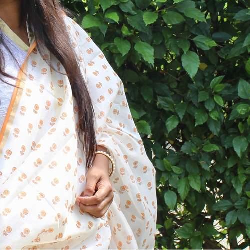 Indian Orange Dupattas
