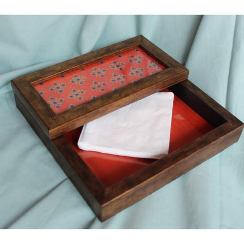 Red and Blue Napkin Holder