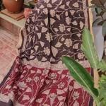Dupatta Kalamkari - Vines in Motion