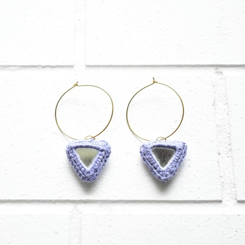 Abhla Triangle Earrings - Lilac