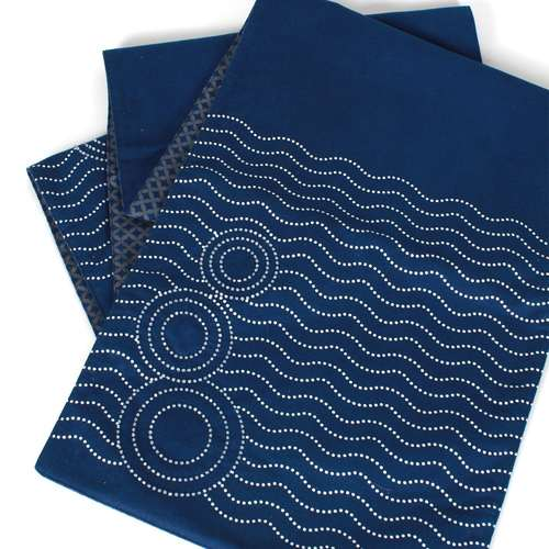 Indigo Sequinned Reversible Runner