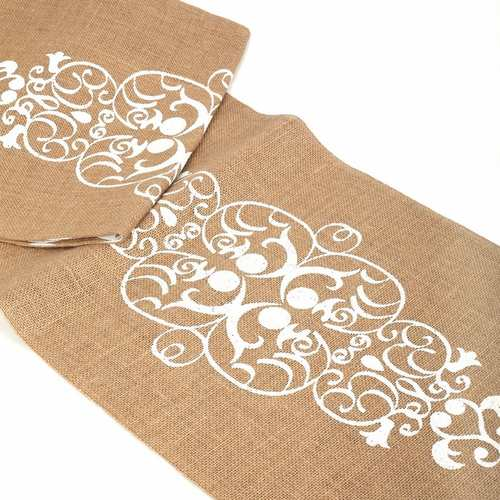 Damask Jute Reversible Runner