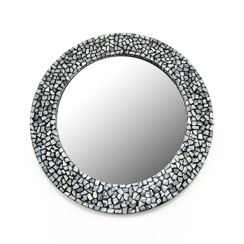 Grey Mosaic Mirror