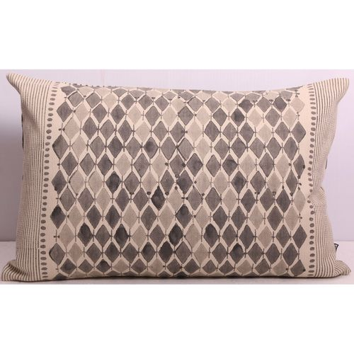 Grey Diamond - Rectangular Cushion Cover
