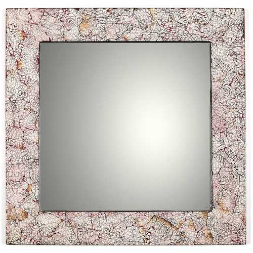 Burnt Eggshell Square Mirror