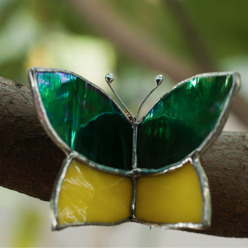 Green Butterfly Wrap Sun-Catcher